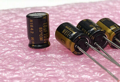 4x Nichicon Muse Kz 10uf 100v Audio-grade Capacitor Usa Seller