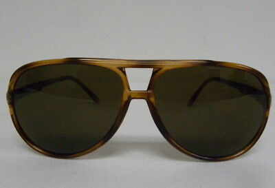 New Vintage Gucci GG 1107/S 76S Brown Aviator Sunglasses Italy 1107