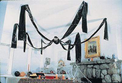 Giant Hanging CEILING SPIDER 20 FT Halloween Party Decorations Prop Goth Spooky - Giant Spider Prop