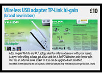Wireless USB adapter TP-Link hi-gain Wi-Fi