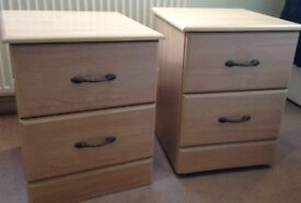TWO BEDSIDE TABLES. EX. CONDITION