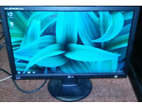 "LG 19"" Widescreen LCD monitor - PC / Laptop / CCTV SECURITY CAMERA - GOOD CONDITION - DELIVERY"