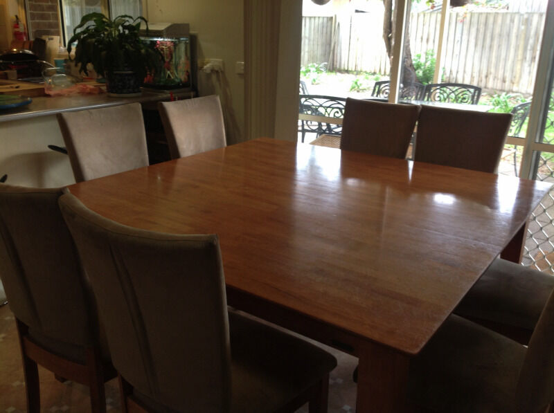 Dining Table Square 8 Seat Dining Table
