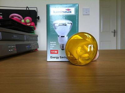 #YELLOW Lumineux Energy Saving Lamp Reflector E27 11W 220-240V 2700K Disco Light