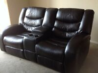 Black Dual Recliner = 6 ft Wide