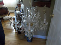 Looking for vintage gold chandelier with glass crystals