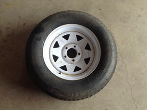 Travel trailer spare tire