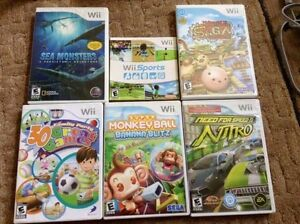 Games/jeux wii