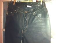Real Black Leather Pants