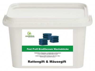 5kg Pest Profi Köderblöcke Brodifacoum 29ppm Rattengift Mäusegift