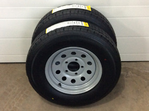 Brand new ST175/80R13 trailers tires and rims