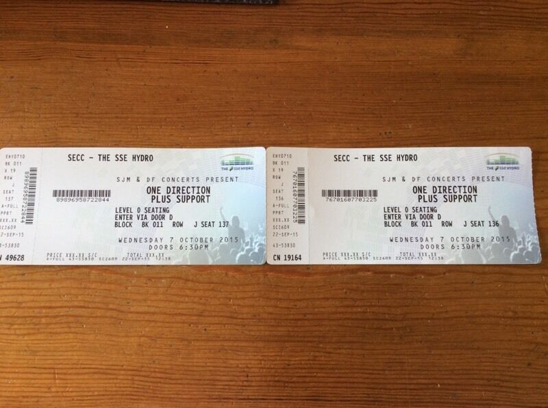2x one direction vip platinum tickets 7th october 2015 sse hydro 2x one direction vip platinum tickets 7th october 2015 sse hydro glasgow m4hsunfo