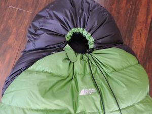 SLEEPING BAG - brand new; never used (down, mummy-style)