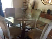 Glass dining room table 150 obo