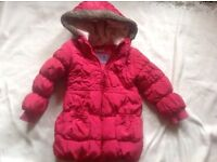 Girl coat pink age 4/5yrs used £2