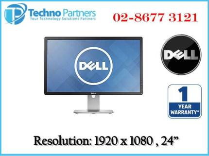 Dell P2414HB 2414 HB LED LCD Computer Monitor Full HD IPS War