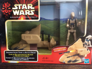 """Star Wars """"Armored Scout Tank with Battle Droid"""" Brand New"""