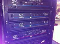 Lot de 3 QSC MX-700 power amp 150 watt 8 ohm par can