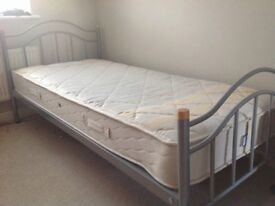 Wardrobe, 5 drawers, Bookcase and Single Bed with Mattress