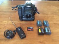 Canon EOS 30D with lens and extras