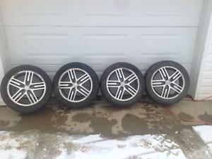 "Mitsubishi 17"" mags and tires"