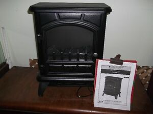 Electric fireplace, looks like woodstove