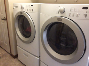 Frigidaire front load washer and gas dryer