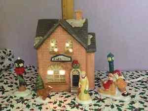 Maisons de Noel en porcelaine