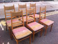 Set of Six Danishy Dining Chairs