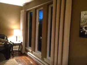 2 grommet window panels