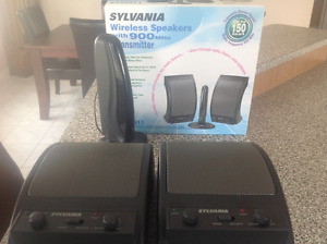 WIRELESS  SPEAKERS, Stereo, 900mhz,transmits up to 150 ft
