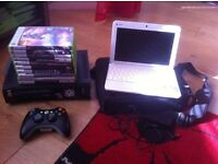 Laptop and Xbox 360