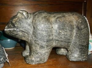 SIGNED SOAP STONE BEAR
