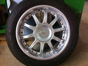 4 summer tires with rims