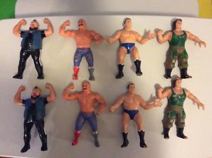 Rubber wrestling figures