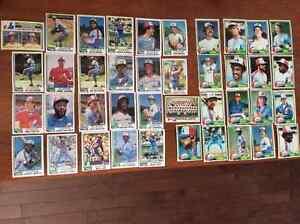 155 cartes de baseball 1981à1989 Expos de Montréal nr.mint!