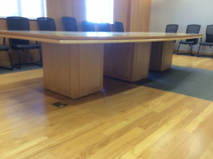 White Maple Custom Made Boardroom Table