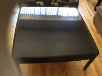 Black lacquer coffee table and end table