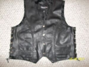 Mans Leather Vest