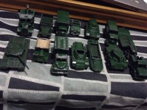 Rare Vintage Lesney Matchbox military Vehicles Lotof13 England