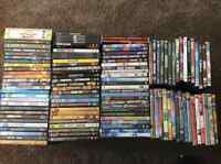 Over 150 DVDs