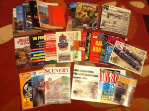 Assortment of Vintage Model Train Guides and Catalogs