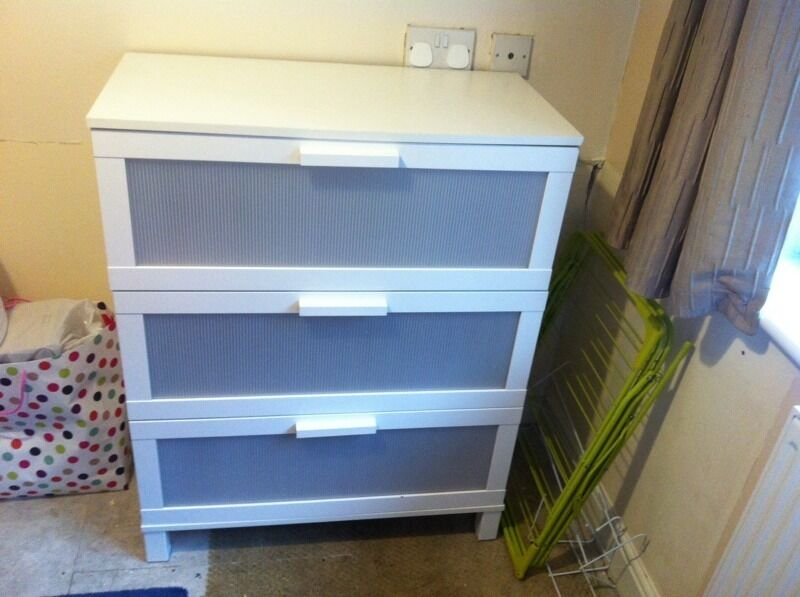 Ikea Aneboda white chest of drawsin Rochdale, ManchesterGumtree - Ikea Aneboda white chest of draws..was being used in spare room but no longer required..drawers all in good condition..top has slight marks on the edge as pictured..would need to be able to collect as cant deliver sorry