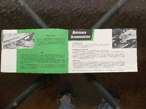 1958 Oldsmobile glove box manual & purchase documents London Ontario image 6