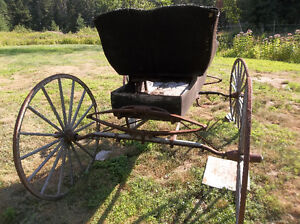antique horse drawn carriage cart with shaves Kawartha Lakes Peterborough Area image 2