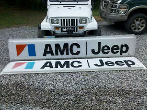 Jeep amc cj wagoneer comanche dealer sign
