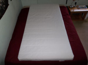 """Twin Firm Mattress with Cover """"MINNESUND"""" By IKEA (LIKE NEW!)"""