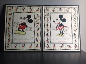 Mickey Mouse and Minnie Mouse framed pictures