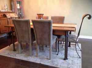 Dining room table and chairs set $475.00