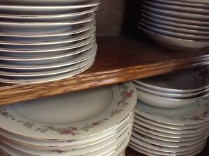 24 place setting DISHES. FEed A large CROWD. DWS